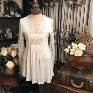 American Rag romantic lace flowing tunic